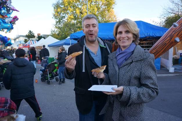 Fredi und Monica Wanner geniessen die Chilbi