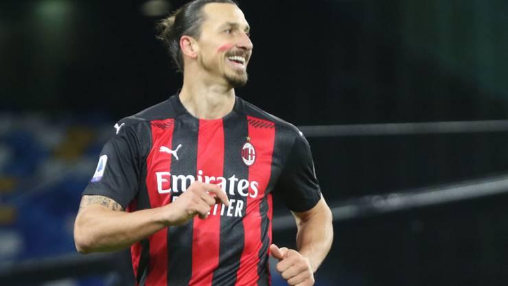 Zlatan Ibrahimovic sorgt für gute Laune bei der AC Milan