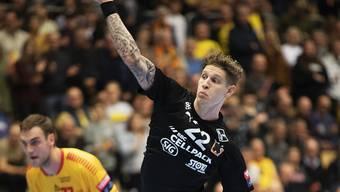 Der österreichische Nationalspieler Sebastian Frimmel war beim 30:21-Sieg der Kadetten in St. Gallen mit acht Toren der beste Werfer bei den siegreichen Gäste