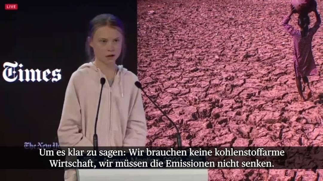 Greta Thunberg am WEF: «Bäume zu pflanzen ist natürlich gut, aber ...»