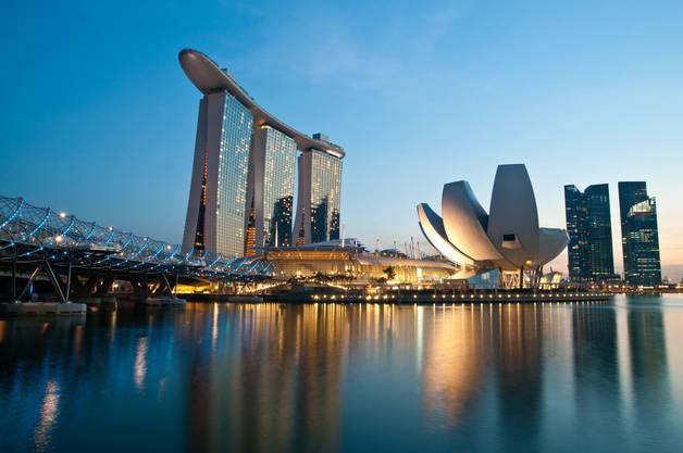 Singapur, im Bild die Marina Bay, hat beim Buhlen um die Austragung des WEF 2021 offenbar die Nase vorn.