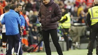 Der Auftritt in Valencia hat dem neuen Barça-Chefcoach Quique Setién offensichtlich nicht geschmeckt