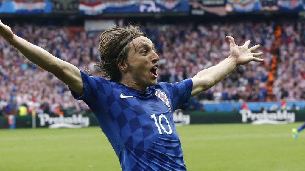 Traf auf spektakuläre Weise zum 1:0: der Kroat Luka Modric