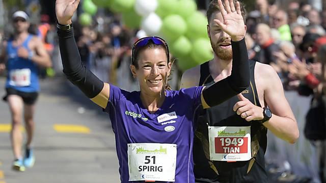 Nicola Spirig belegt den zweiten Platz bei den Frauen