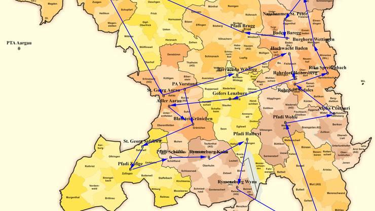 Bis im August 2021 wird der Wanderrucksack einmal durch den ganzen Aargau gewandert worden sein - ursprünglich war dies bereits auf Ende 2020 geplant.