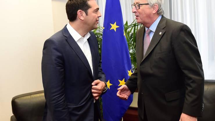 Kontakt abgebrochen: Griechenlands Premier Alexis Tsipras (links) und EU-Kommissionspräsident Jean-Claude Juncker