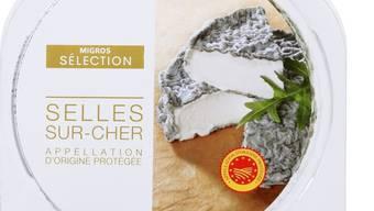 """Wird von der Migros zurückgerufen: der Rohmilch-Ziegenweichkäse """"Sélection Selles-sur-Cher""""."""