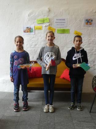 Donia Saad, Lara Zimmermann, Amir Saad (von li nach re)