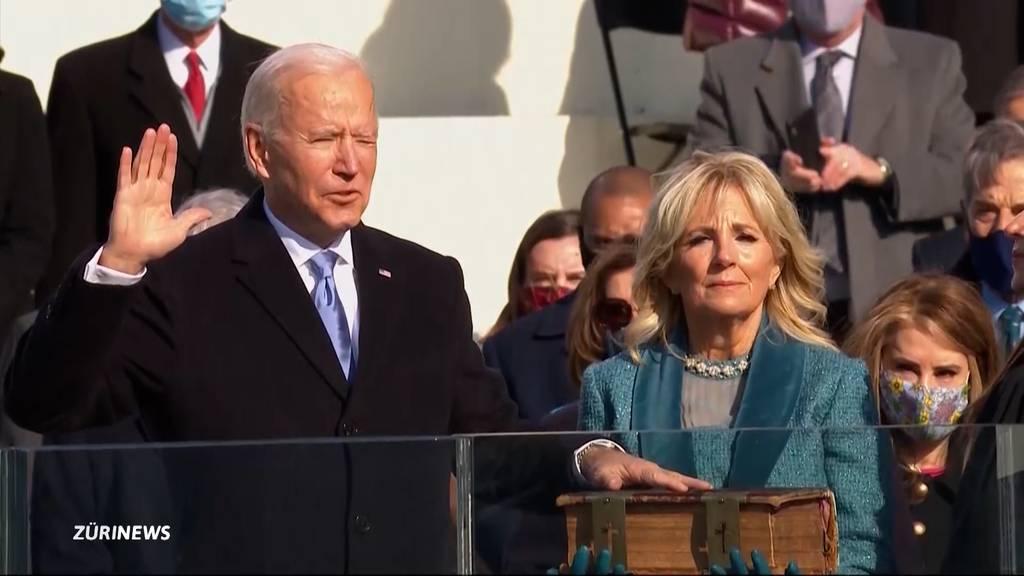 Joe Biden heute als 46. Präsident der USA vereidigt