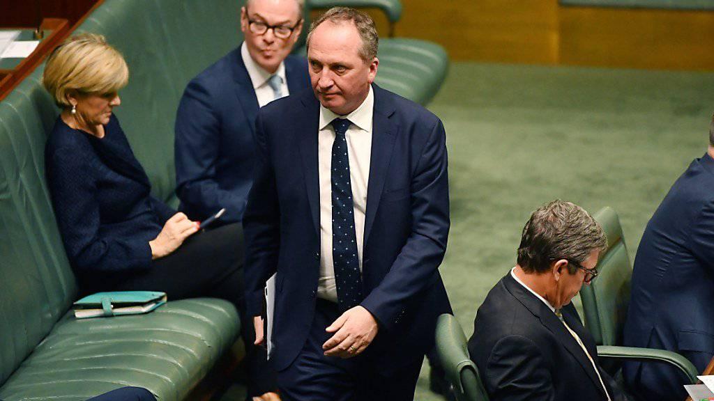 Vizeregierungschef Barnaby Joyce hat neben der australischen auch die neuseeländische Staatsbürgerschaft. Dies könnte ihm sein Parlamentsmandat kosten - und der Regierung die Mehrheit im Repräsentantenhaus.