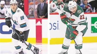 Acht Tore in elf Spielen: Timo Meier (San Jose Sharks) gegen Null Tore in zehn Spielen: Nino Niederreiter (Minnesota Wild).