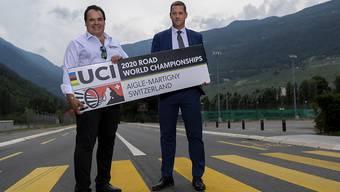 Die Co-Präsidenten des Organisationskomitees, Alexandre Debons (links) und Gregory Devaud, gaben grünes Licht für die Strassen-WM in der Schweiz