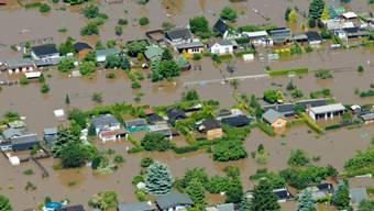 Riesa in Ostdeutschland stand im Juli unter Wasser (Archiv)