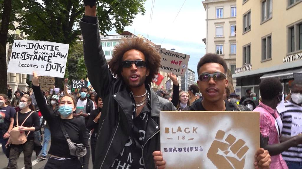 «Black Lives Matter»: Angespannte Stimmung bei Zürcher Demonstration