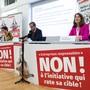 Die Parteipräsidenten von SVP, FDP und CVP traten am Mittwoch vor die Medien.