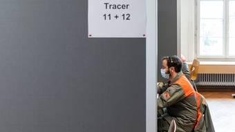 Hilfe beim Contact Tracing: Zivilschützer kontaktieren Personen, die mit Covid-19 Infizierten in Kontakt kamen.