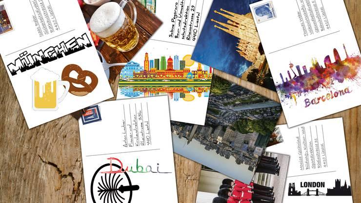 Postkarten an die Baselbieter Regierung