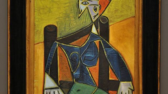 """""""Femme assise dans un fauteuil"""" (Archiv)"""