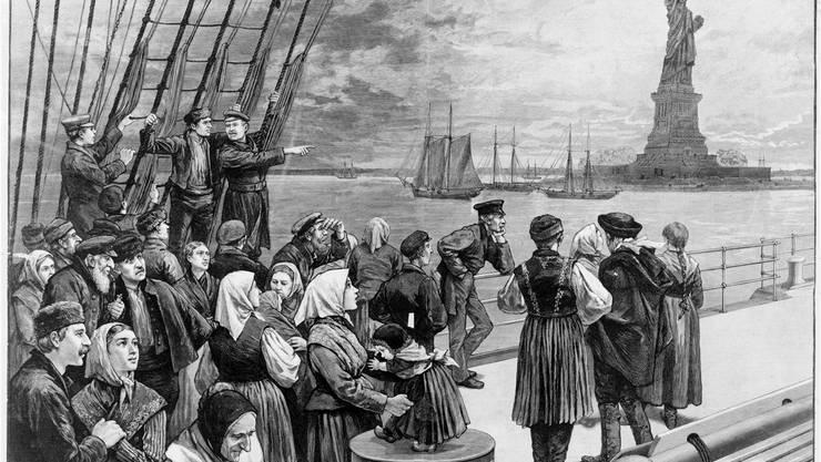 117 Aargauer träumten unter der Leitung der Aarauer Brüder Märk von einem besseren Leben in Amerika.Symbolbild/Ullstein