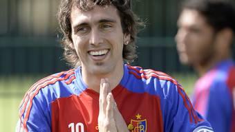 Matias Delgado kommt endlich beim FCB an und schiesst gleich sein erstes Tor
