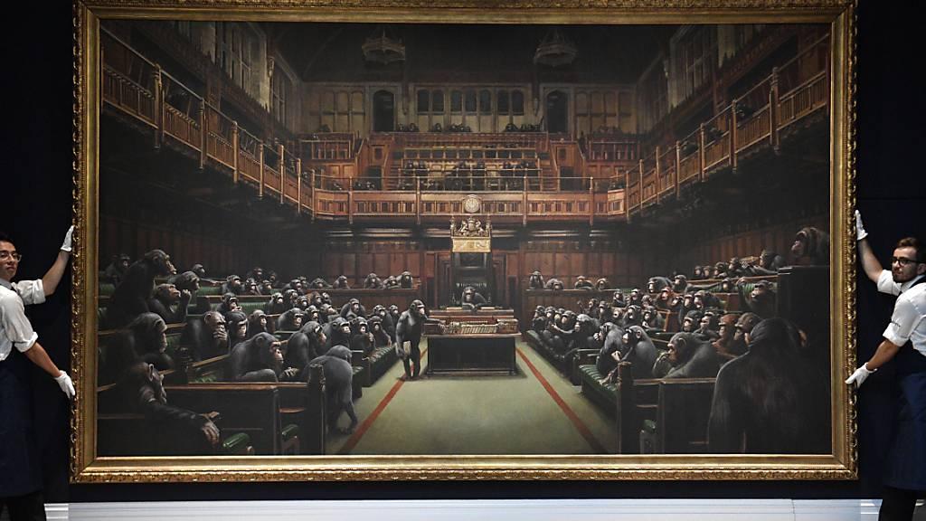 Banksys Schimpansen-Gemälde für elf Millionen verkauft
