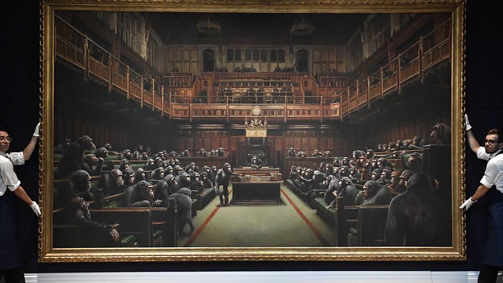 Dieses Gemälde des Street-Art-Künstlers Banksy wechselt für umgerechnet 11 Millionen Franken den Besitzer.