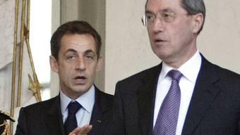 Sarkozy (l) als Präsident und Guéant als Elysée-Generalsekretär im Dezember 2009