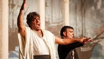 Der unglückliche Otello (Mario Malagnini) und der teuflische Jago (Marzio Giossi).