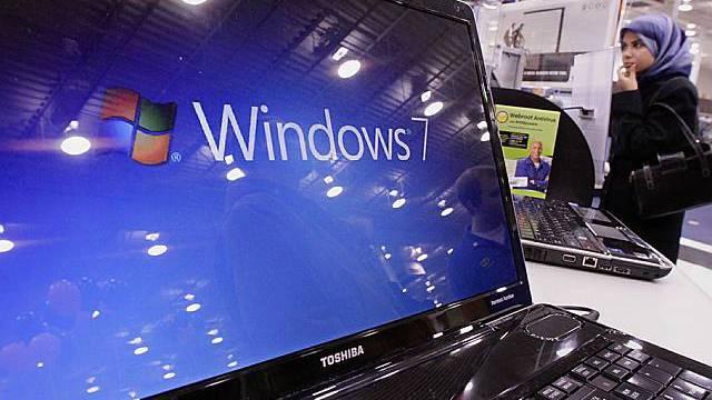 Betriebssystem Windows 7 auf einem Notebook
