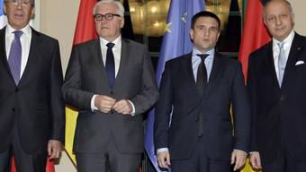 Aussenminister Lawrow, Steinmeier, Klimkin und Fabius (v. l.)