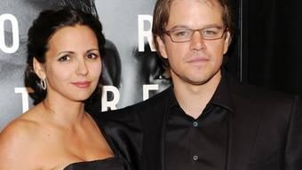 Matt Damon mit Gattin Luciana Barroso - eine von fünf Frauen im Haushalt des Schauspielers (Archiv)