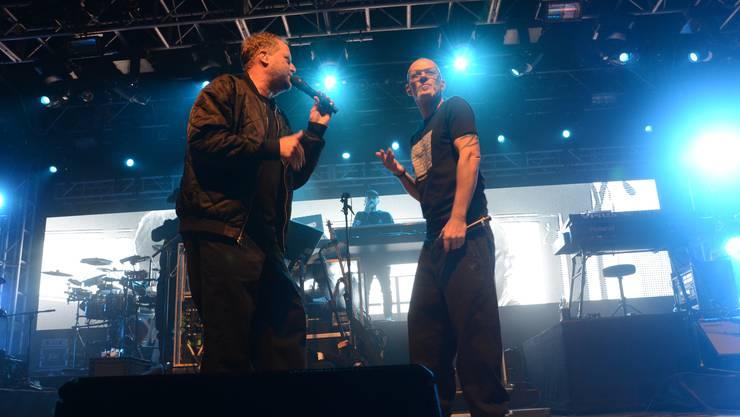 Smudo (l.) und Thomas D von den «Fanta 4» philosophierten am Schupfart Festival über die 28 gemeinsamen Jahre im Musikgeschäft