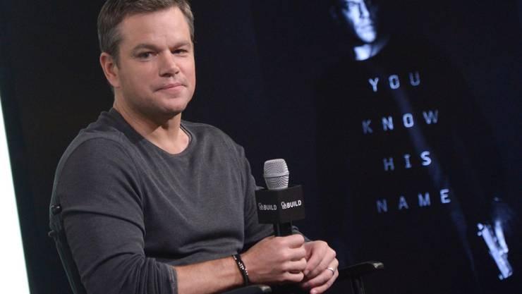 Körperkult ist nicht sein Ding: US-Schauspieler Matt Damon fühlt sich auch mit ein paar Kilos zuviel auf den Rippen wohl in seiner Haut. (Archivbild)