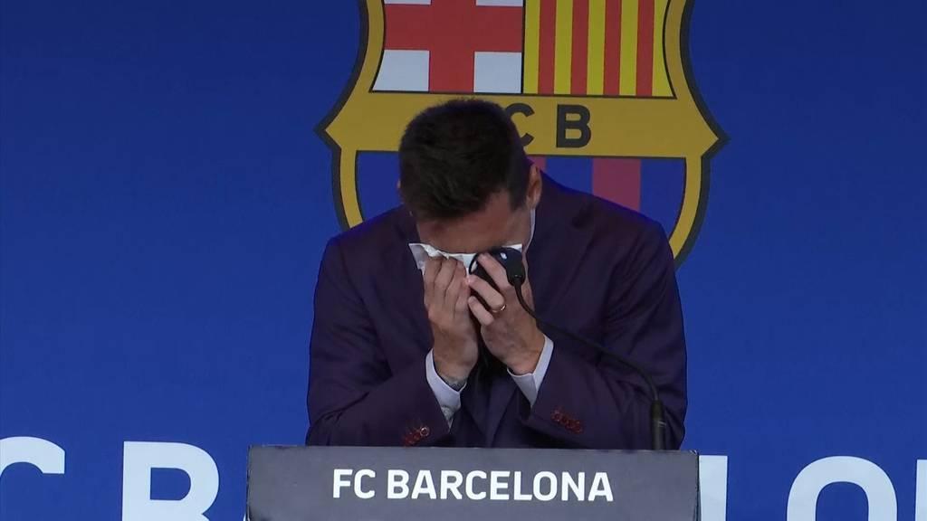Star-Fussballer Messi bricht in Tränen aus