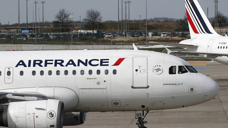 Viele Air-France-Maschinen blieben am Mittwoch am Boden (Aufnahme vom Flughafen Paris Charles de Gaulle).