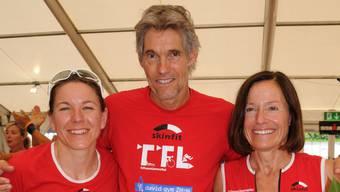 Die Hawaii-Starter vom Tri Team Limmattal: Sonja Blum, Jürg Mallepell und Barbara Kuster (von links).
