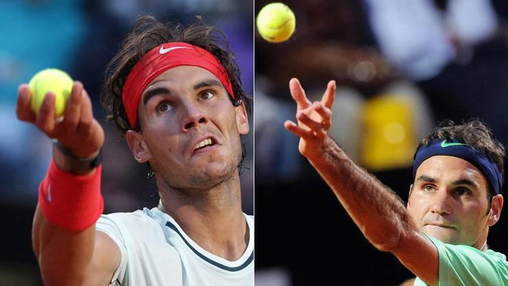 Im Final: Nadal und Federer.