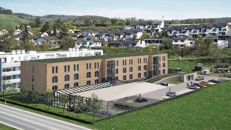 Unweit des AKWs Leibstadt soll das Aparthotel gebaut werden.