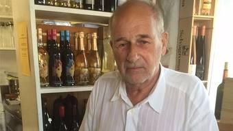 Bis heute engagiert: Walter Studer, 80-jährig, arbeitet immer noch in den Familienbetrieben Architekturbüro und Vinothek mit.