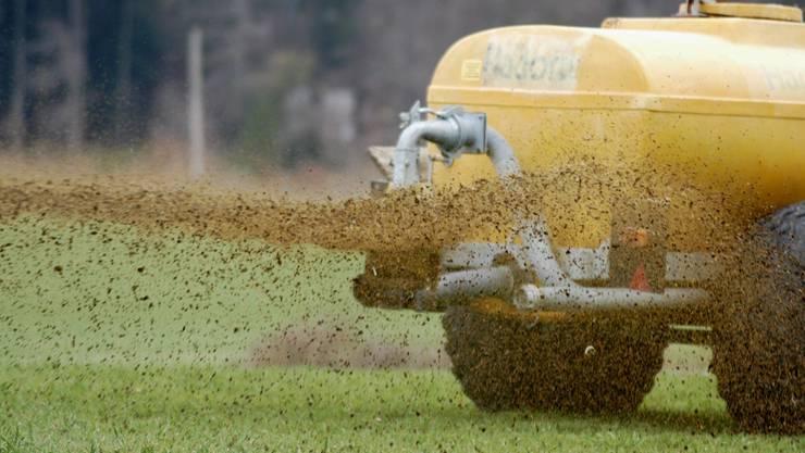Bauern wollen endlich ihre Gülle verteilen