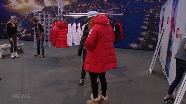 Kleider fassen für Olympia