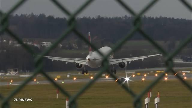Sturm bereitet Flugzeugen Probleme