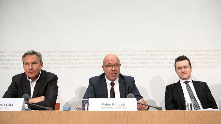 Fabio Regazzi (Mitte) wird wohl neuer Präsident des Schweizerischen Gewerbeverbands.