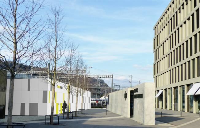 Pro Velo möchte neben dem Campus ein Bike Loft realisieren. (Visualisierung)