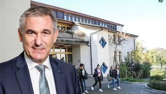 Regierungsrat Alex Hürzeler: «Das Bezirksschulhaus in Fahrwangen ist sanierungsbedürftig.»