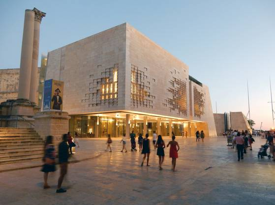 Stararchitekt Renzo Piano führt die Bastion Valletta in die Moderne.