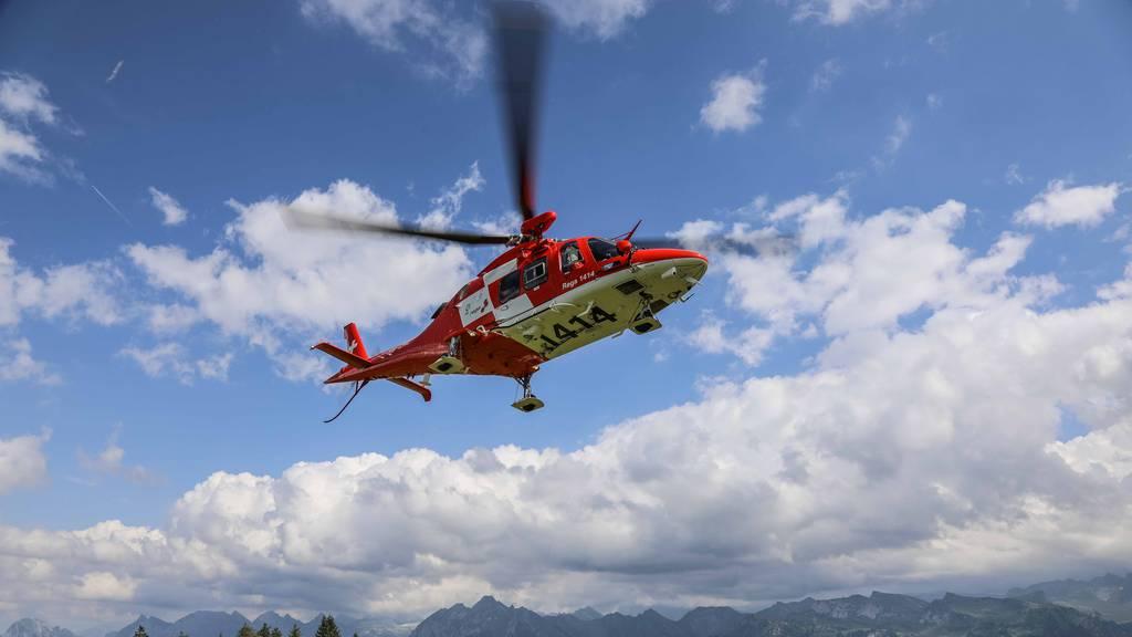 Ein Einsatz eines Rega-Helikopters. (Symbolbild)