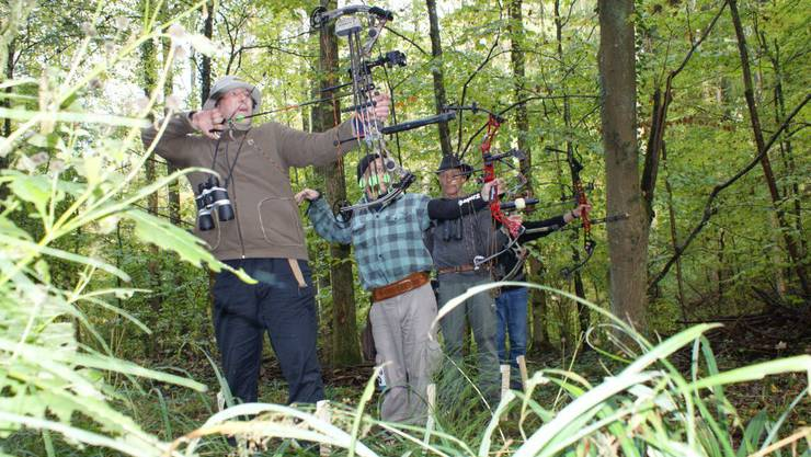 Die Bogenschützen in Möhlin im Einsatz. (Bild: who)