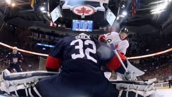 Kanadas Matt Duchene überlistet US-Keeper Jonathan Quick