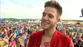 «Es war der Wahnsinn», sagt der Teenie-Schwarm Luca Hänni euphorisch zu seinem Auftritt. Das Argovia Fäscht sei das geilste Festival, an demer je gespielt habe.